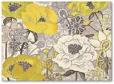 Light & shade floral wall art