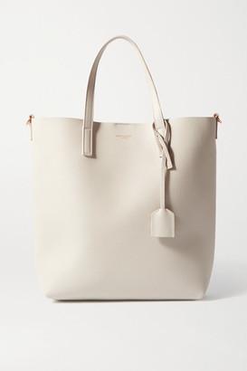 Saint Laurent Mini Leather Tote - Off-white