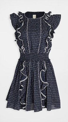 La Vie Rebecca Taylor Sleeveless Ikat Leaf Dress