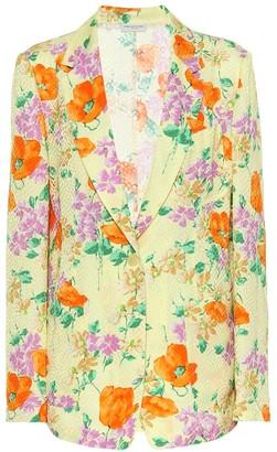 Dries Van Noten Printed crepe blazer