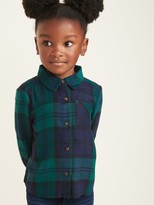 Old Navy Plaid Flannel Pocket Shirt for Toddler Girls