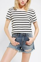 Truly Madly Deeply Striped Super-Cropped Tee