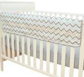 T.L.Care TL Care® Crib Rail Cover in Blue and Grey Zigzag
