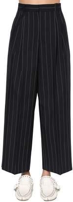 Loewe Pinstripe Straight Leg Cool Wool Pants