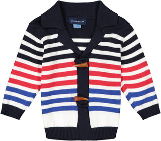 Andy & Evan Stripe Toggle Cotton Cardigan