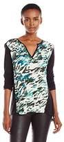 Calvin Klein Jeans Women's Printed 3/4 Sleeve Top