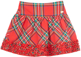 E-Land Kids Red & Green Tartan Plaid Skirt - Toddler & Girls
