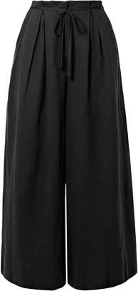 Ulla Johnson Sylvie Pleated Tencel, Linen And Cotton-blend Twill Culottes