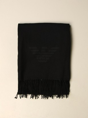 Emporio Armani Scarf Wool Scarf With Logo