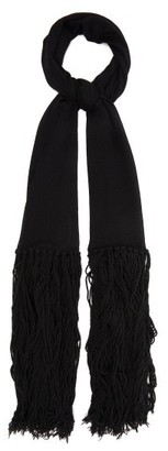 Bottega Veneta Tasseled Cashmere And Wool Scarf - Black