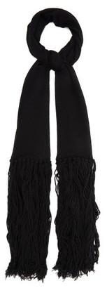 Bottega Veneta Tasselled Cashmere And Wool-blend Scarf - Black