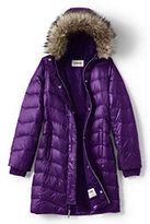 Lands' End Girls Fashion Down Coat-Dark Blue Lilac