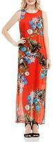 Vince Camuto Tropical Chiffon Maxi Dress