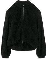 Tom Ford fur zipped coat - women - Polyamide/Angora - M