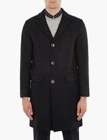 Officine Generale Navy Jack Felted Wool Coat