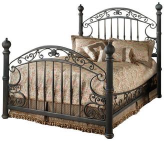 Hillsdale Furniture Scrolled Metal Bed in Rustic Old Brown (King)