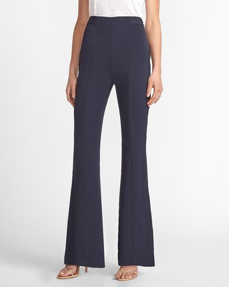 Express Super High Waisted Twill Flare Pant