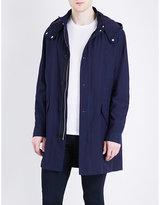 The Kooples Denim-effect Cotton Parka Jacket