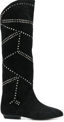Isabel Marant Studded Suede High Boots