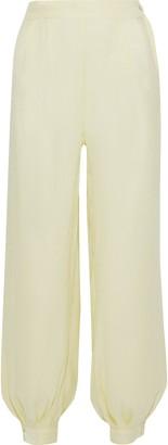 Onia Jodie Crinkled Metallic Woven Tapered Pants