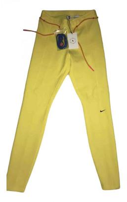 Nike x Off-White Yellow Cotton Trousers
