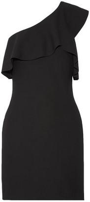 Elizabeth and James Jerard One-shoulder Ruffled Stretch-ponte Mini Dress
