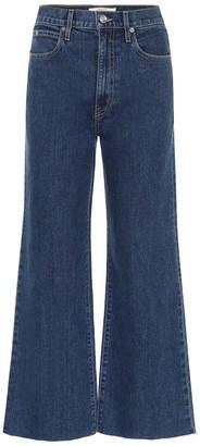 SLVRLAKE Grace Crop high-rise wide-leg jeans
