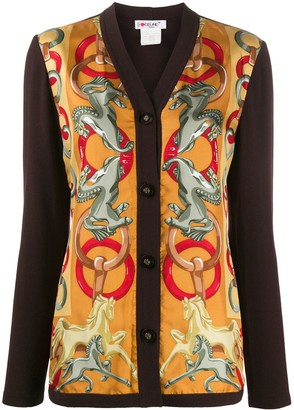 Céline Pre-Owned Pre-Owned Horse Print Cardigan