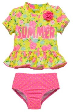 TEVEQ Toddler Kids Girl Two Piece Bikini Set Swimwear Dot Swimsuit Costume Bathing Suit