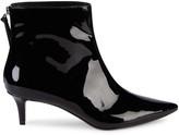 Saks Fifth Avenue Dina Kitten-Heel Patent Leather Booties
