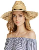 Aqua Braided Straw Sun Hat - 100% Exclusive
