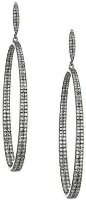 Nina Gilin Pave Diamond Hoop Earrings