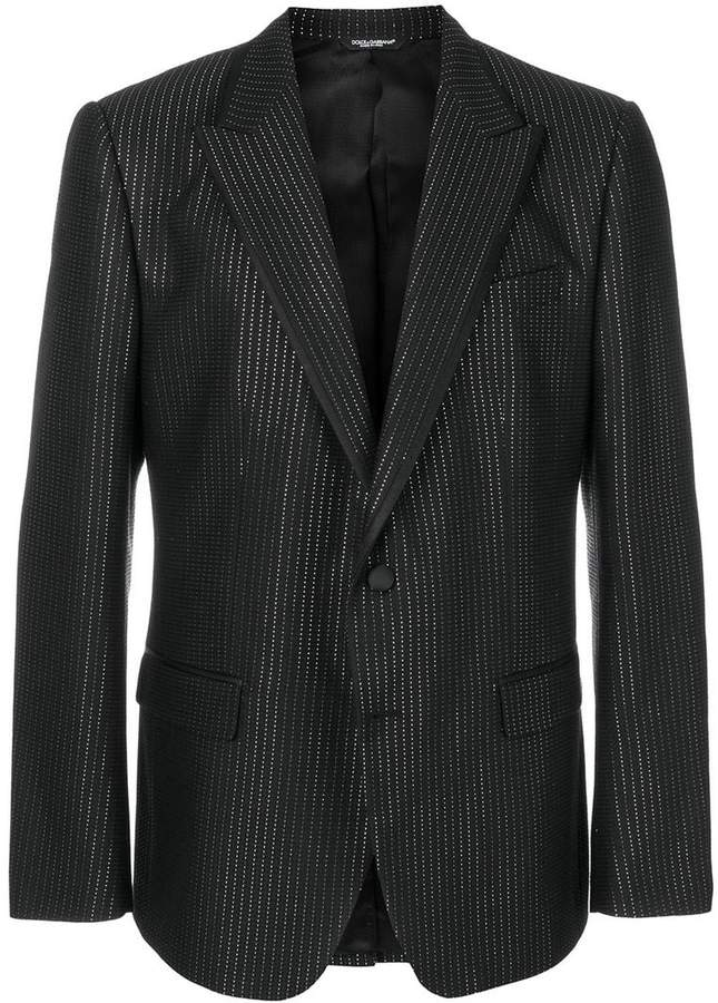 Dolce & Gabbana metallic dotted blazer