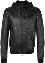 Dolce & Gabbana leather hooded jacket - men - Cotton/Lamb Skin/Polyamide/Virgin Wool - 50