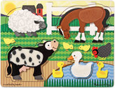 Melissa & Doug Kids Toy, Farm Touch and Feel Puzzle