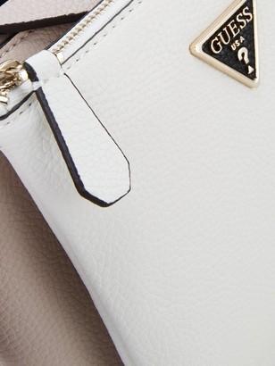 GUESS Becca Double Pocket Tri Tone Cross Body Bag - Black/White