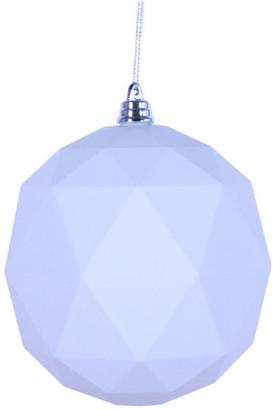"""Vickerman 6"""" White Matte Geometric Ball 4/bag"""