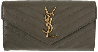 Saint Laurent Grey Envelope Wallet