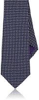 Ralph Lauren Purple Label Men's Dotted Silk Necktie-NAVY