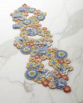 Kim Seybert Floral Bouquet Beaded Table Runner