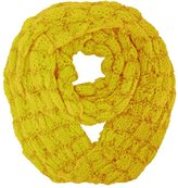 Luxury Divas Mustard Thick Knit Circle Infinity Loop Scarf