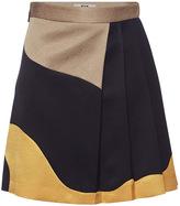 MSGM Hammered Satin Wrap Skirt