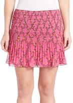 Diane von Furstenberg Women's Tayte Pleated Chiffon Skirt
