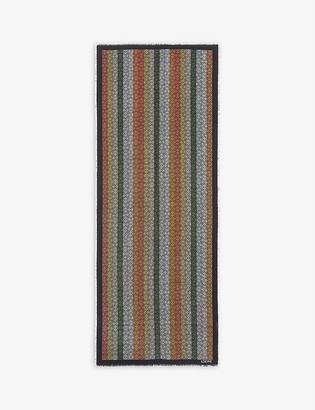 Loewe Anagram-in-lines wool, silk and cashmere scarf