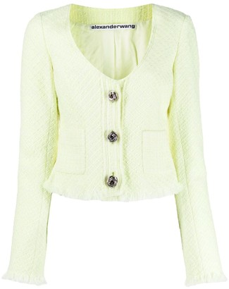 Alexander Wang V-neck tweed cardigan
