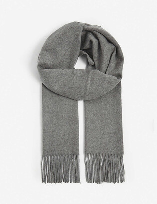 Johnstons Fringed cashmere scarf
