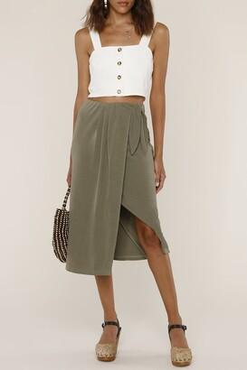 Heartloom Sloan Wrap Asymmetrical Midi Skirt