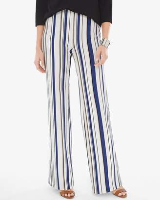Chico's Chicos Ponte Wide-Leg Striped Trousers