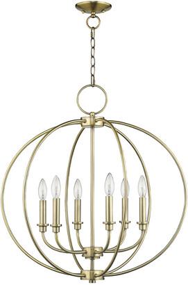 Livex Lighting Livex Milania 6-Light Antique Brass Chandelier