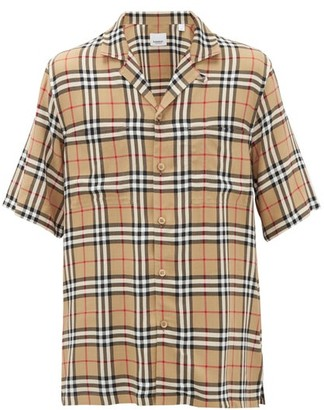 Burberry Raymouth Vintage-checked Twill Shirt - Beige Multi